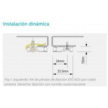 KIT DE FIJACION DINAMICO PARA 1 BARRA MEMCO E10 (Pinzas)  -  E10 803
