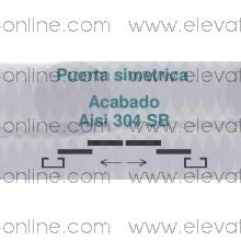PUERTA AUTOMATICA ACINOX AISI 304 SB  600 PL