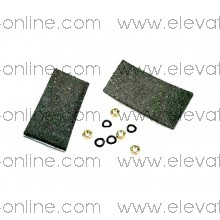 T0C5048B2 - ZAPATA OTIS 13VT & 160 VAT KIT 2 UNIDADES  ( 124 MM X 60 MM X 6 MM )