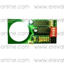 Placa de pulsador Zener con luminoso